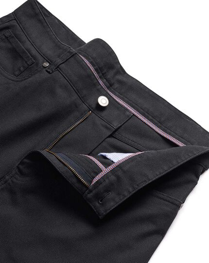 Charcoal  diamond texture stretch 5 pocket pants