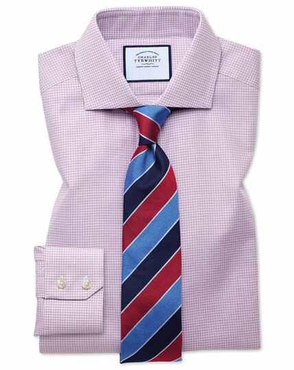 Extra slim fit cutaway textured puppytooth pink shirt