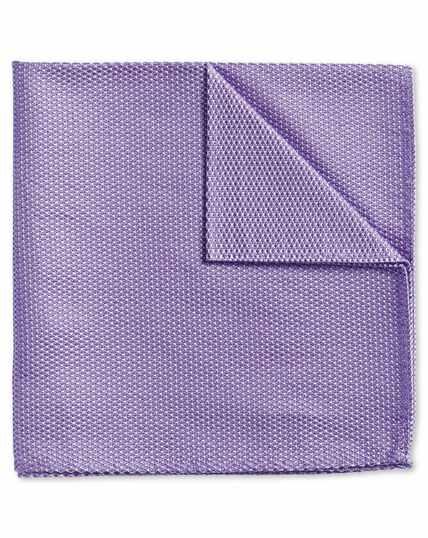 Lilac classic plain pocket square