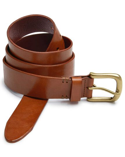 Brown casual chinos belt