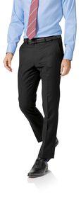Black twill slim fit business suit