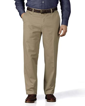 Stone classic fit flat front weekend chinos