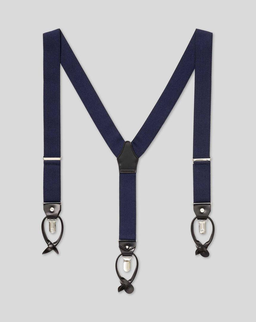 Combination Braces - Navy