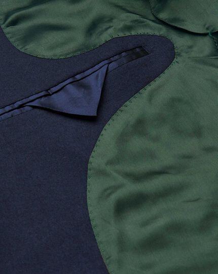 Britisches Classic Fit Luxus-Anzugsakko in Blau