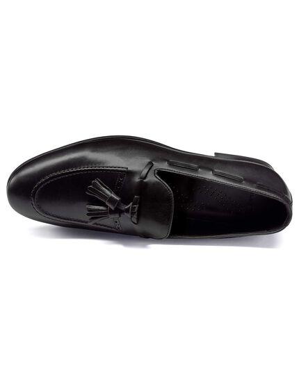 Slipper mit Quasten in Schwarz