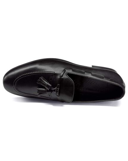 Black tassel loafer