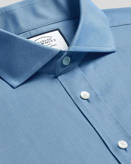 Cutaway Collar Non-Iron Twill Shirt - Blue
