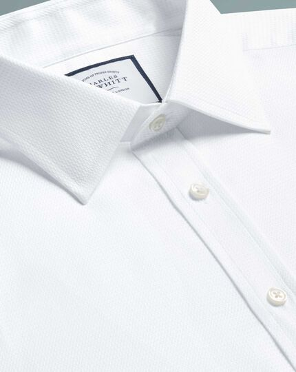 Egyptian Cotton Chevron Shirt - White
