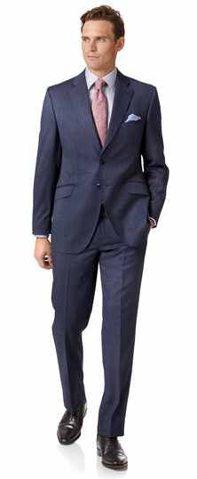 Airforce blue classic fit Italian suit