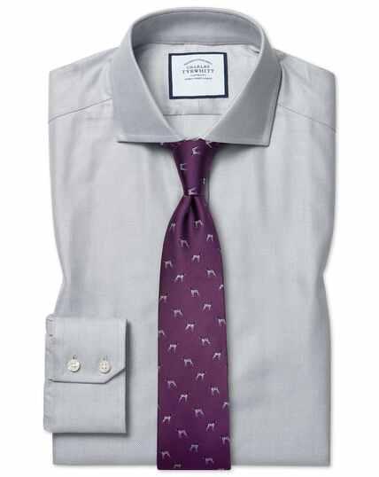 Cutaway Cotton Stretch With Tencel™ Shirt - Grey