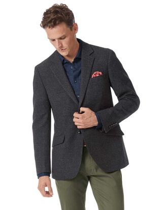 Slim fit charcoal wool jacket
