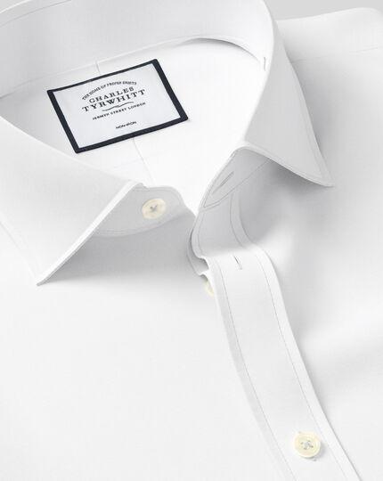Cutaway Collar Non-Iron 4 Way Stretch Shirt - White