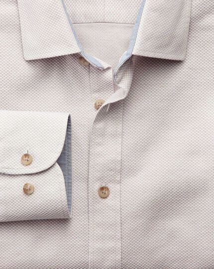 Classic fit stone washed textured shirt