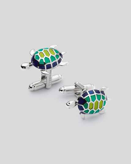 Turtle Cufflinks - Green