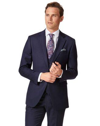 Slim Fit Business Anzug Sakko aus Twill in Marineblau