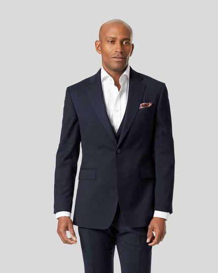 Stripe Birdseye Travel Suit Jacket - Navy