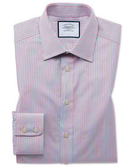Slim fit Egyptian cotton poplin multi pink stripe shirt