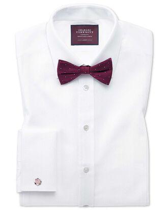 Chemise de soirée blanche en piqué luxueux slim fit