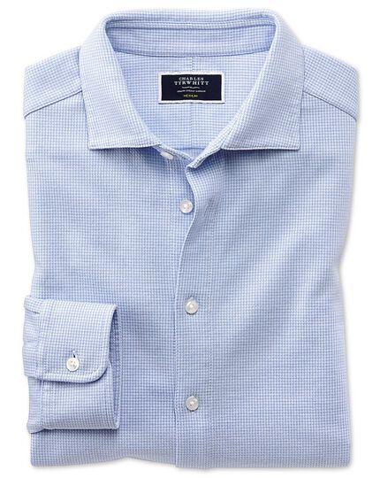 Chemise bleu ciel en jersey