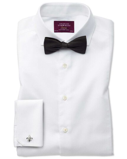 Black silk barathea ready-tied bow tie