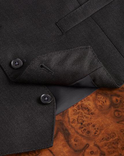 Charcoal adjustable fit birdseye travel suit waistcoat