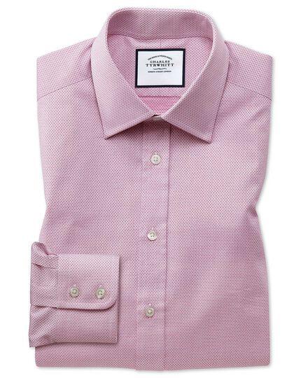Slim fit magenta cube weave Egyptian cotton shirt