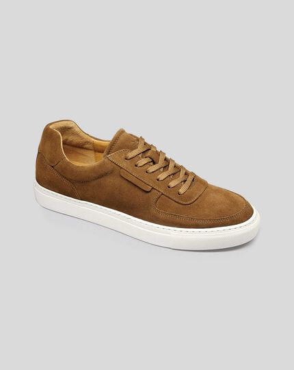 Suede Sneakers - Tan