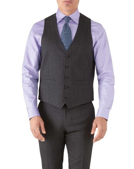 Charcoal adjustable fit hairline business suit vest