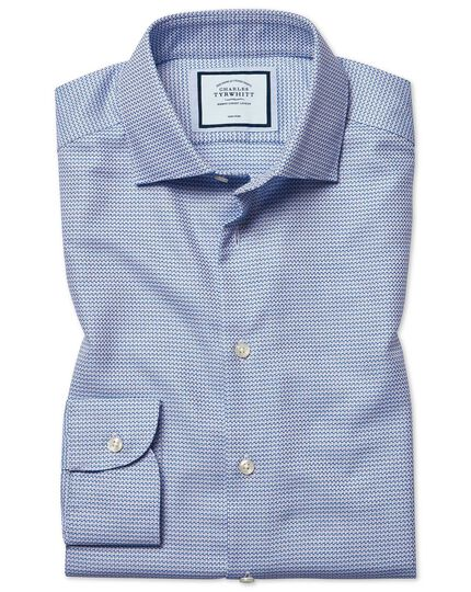 Slim fit non-iron natural stretch blue shirt