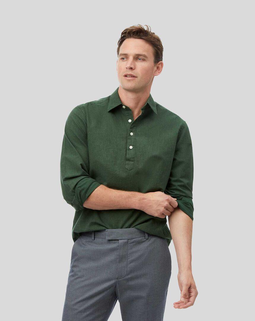 Classic Collar Artist Shirt - Dark Green