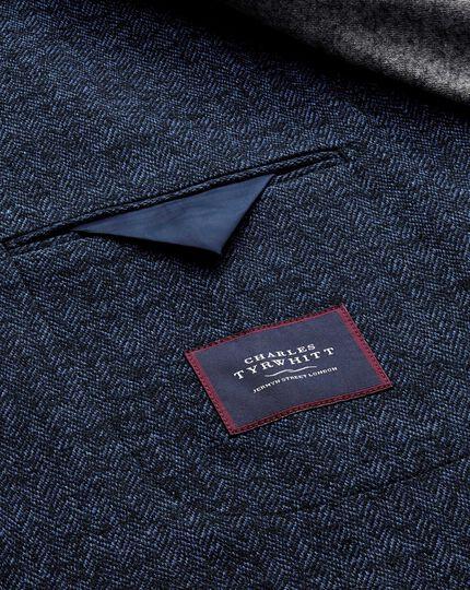 Slim fit blue stretch jacket