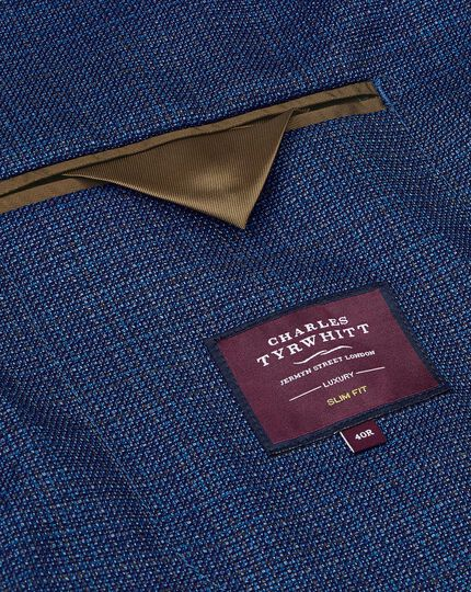Luxury Italian Wool Jacket - Blue