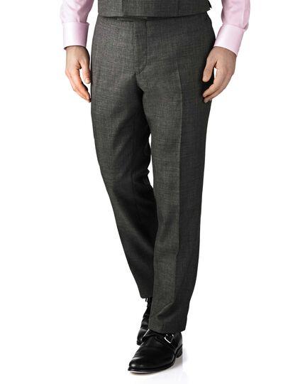 Dark grey slim fit morning suit pants