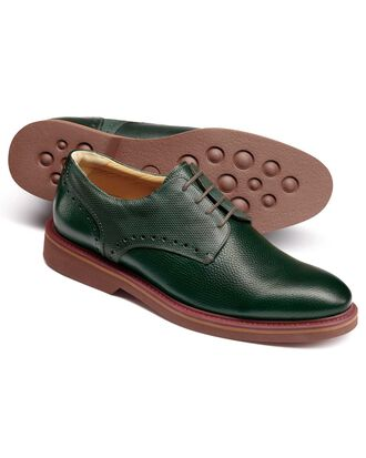 Green extra lightweight Derby shoes