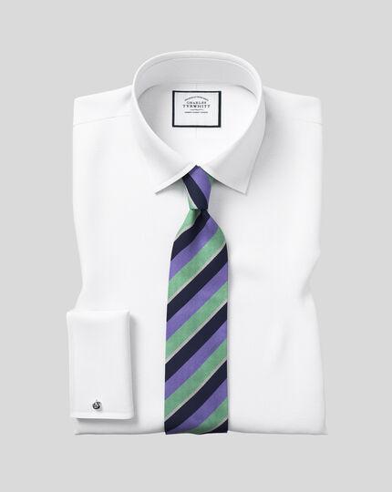 Chemise en popeline à col classique - Blanc