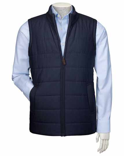 Navy knit back vest