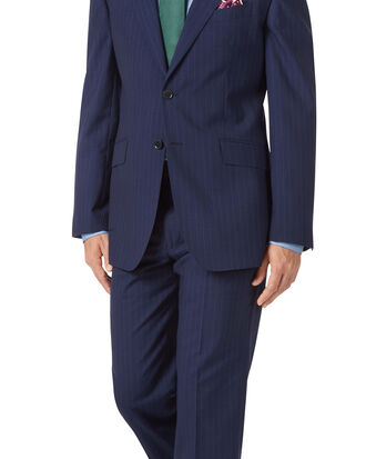 Navy classic fit Panama stripe business suit