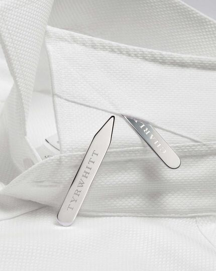 Silver plated collar stiffeners