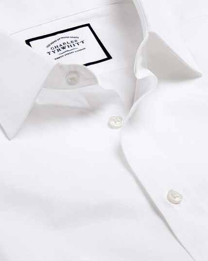 Popeline-Hemd aus ägyptischer Baumwolle - Weiß