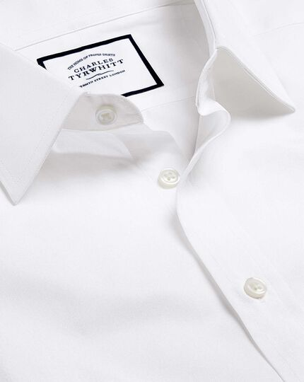 Egyptian Cotton Poplin Shirt - White