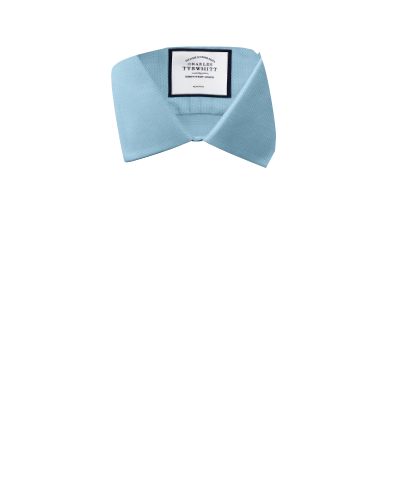 Slim fit non-iron teal triangle weave shirt