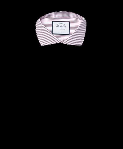 Chemise violette à col cutaway et rayures extra slim fit sans repassage