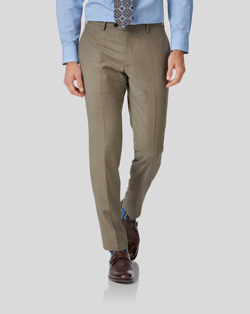 Twill Business Suit Pants - Fawn