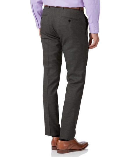 Grey extra slim fit merino business suit pants