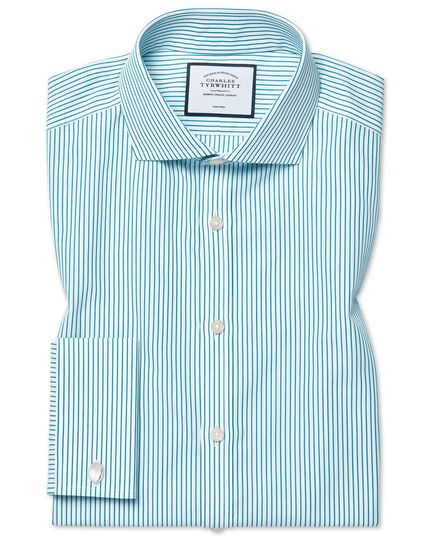 Cutaway Non-Iron Stripe Shirt - Green