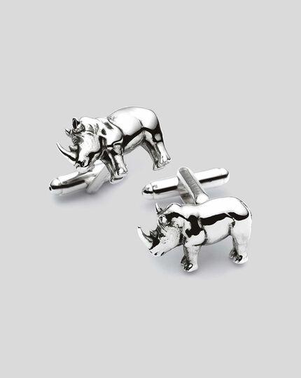 Manschettenknöpfe mit Nashorn-Design