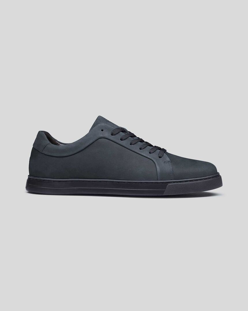 Nubuck Trainers - Navy