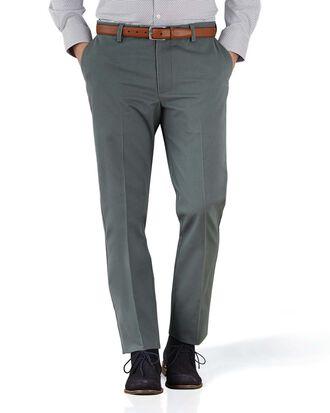 Pantalon chino gris extra slim fit à devant plat sans repassage