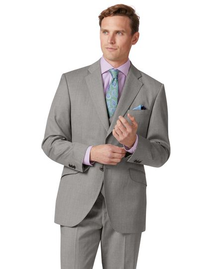 9228f1f3c4 Silver classic fit Italian suit jacket