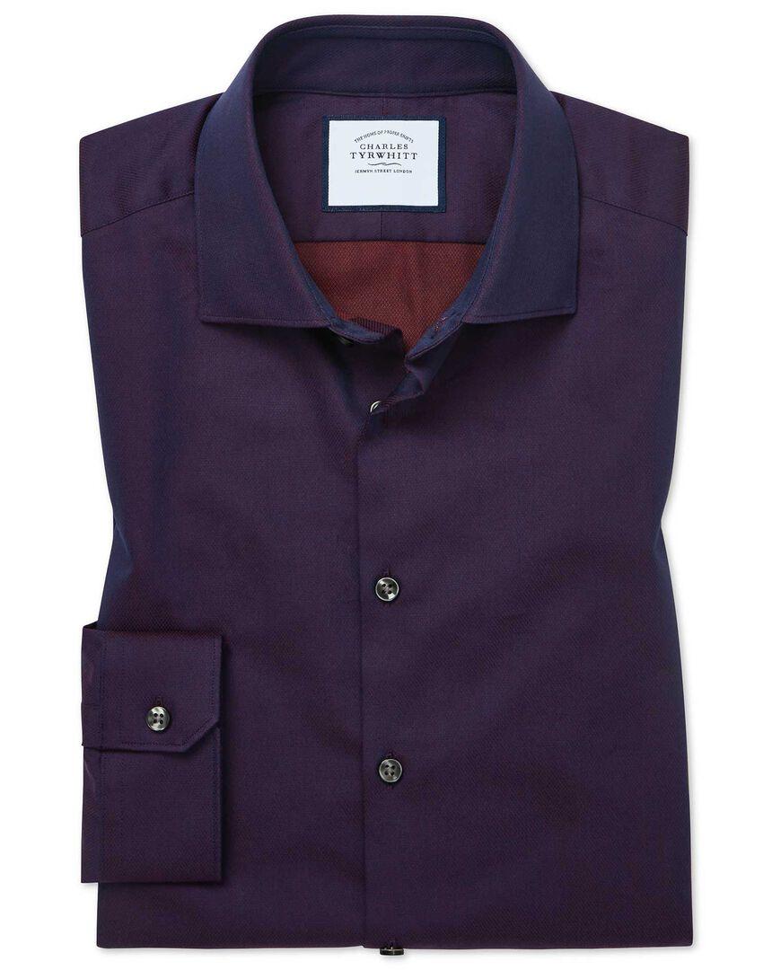 Super slim fit micro diamond purple shirt